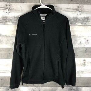 Columbia black fleece jacket size small